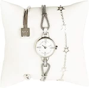 [シラ] SILA PARIS 腕時計 レディースウォッチ アクセサリーセット (シルバー) [並行輸入品]