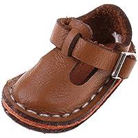 Fenteer 12インチブライスドール人形用 かわいい ベルトシューズ フラットシューズ 靴 3色選択 - ブラウン
