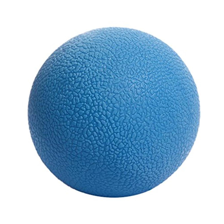 干し草エジプト人退院Baoblaze マッサージボール ボディーマッサージ 便利 TPE ヨガ ピラティス 4色選べる - 青