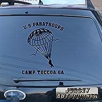 3s MOTORLINE US Armyアメリカ空挺部隊空挺トレーニングCamp Toccoa gaデカールステッカー車ビニールPickサイズカラー 5'' (12.7cm) ブラック 20180328s5