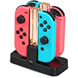 Nintendo Switch充電スタンド CANEOV ジョイコン Joy-Con充電ホルダー 4台同時に充電可能 ニンテンドー 急速充電グリップ 充電指示LED付き USBケーブル付き