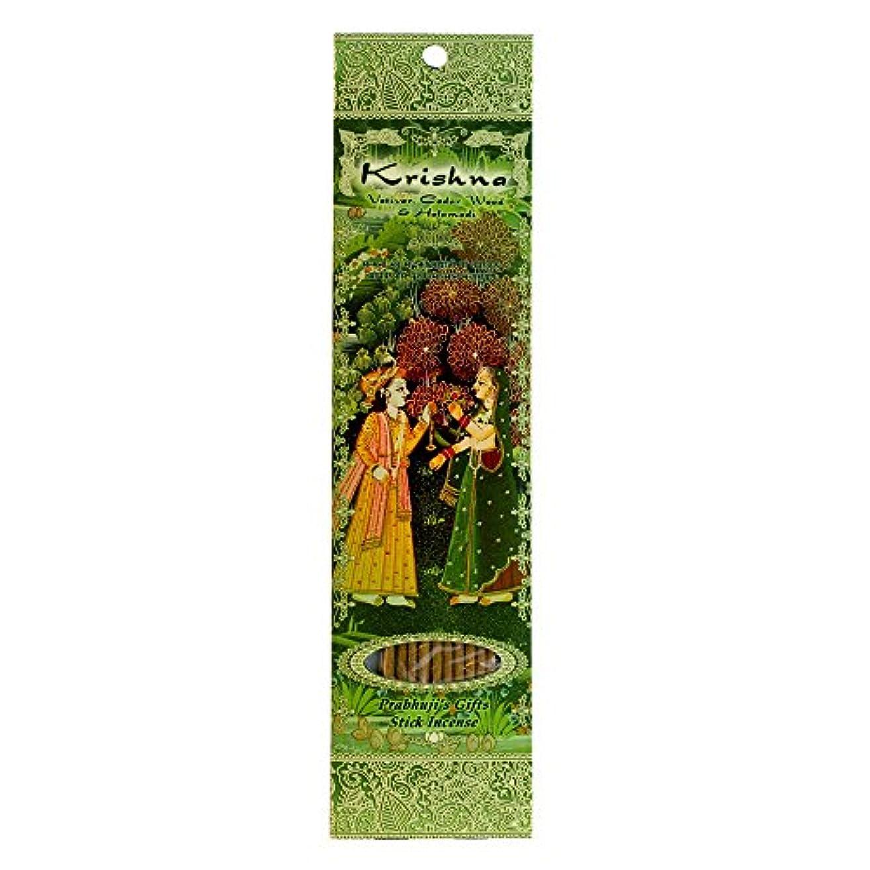 ポインタシソーラス労苦(Krishna, 1) - Ramakrishna Incense Sticks, Krishna, Vetiver, Cedar wood & Halamadi, Single Pack
