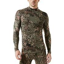 (テスラ)TESLA 長袖ハイネック スポーツシャツ [UVカット・吸汗速乾] コンプレッションウェア パワーストレッチ アンダーウェア T11-PCKZ-M