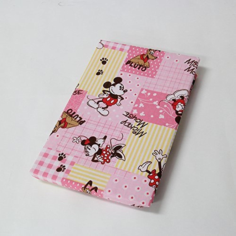 ディズニー 敷き布団カバー ミッキー&ミニー 新生活寝具 (ジュニアサイズ, ピンク)