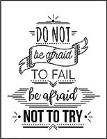 【FOX REPUBLIC】【失敗を恐れるな。何も挑戦しないことこそ恐れるべきだ】 白マット紙(フレーム無し)A2サイズ