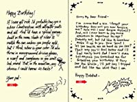 Quiplip Handwritten Yours Truly Birthday Cards 6-Pack (YT06076PCK) [並行輸入品]