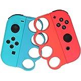 RGEEK 製 Fit Boxing/Fit Boxing 2(フィットボクシング) 対応 コントローラー グリップ for Nintendo Switch Joy-Con用 コントローラー グリップ 2個 セット(赤&青).