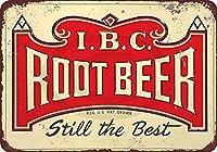 Shimaier 壁の装飾 メタルサイン IBC Root Beer Still The Best ウォールアート バー カフェ 縦30×横40cm ヴィンテージ風 メタルプレート ブリキ 看板
