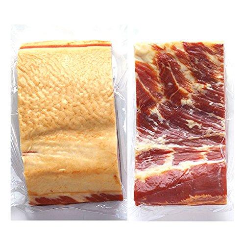 『長期肥育イタリア産豚バラ肉使用の業務用ベーコンブロック(胸ばら肉の燻製)約800g 冷凍』の1枚目の画像