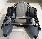 釣りやレジャーに フロートチューブ フローター U型 DJU-170 インフレータブルなので持ち運び収納が便利なゴムボート