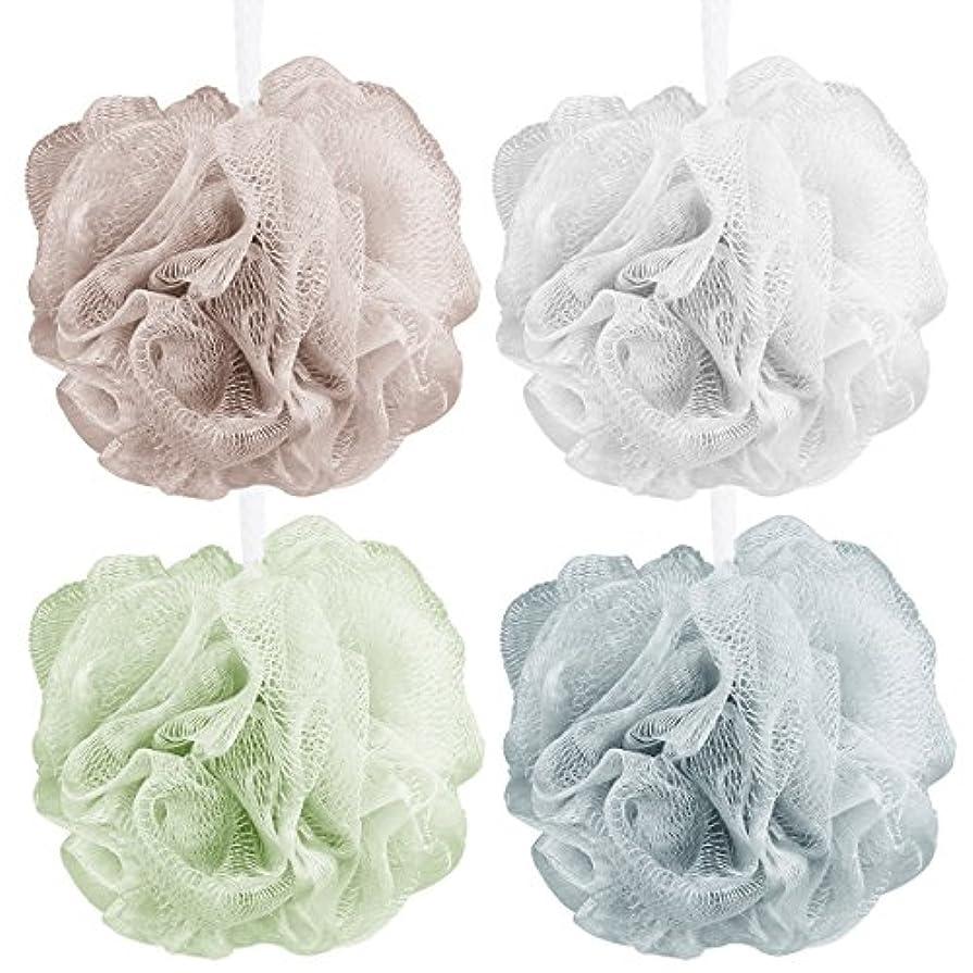 雲ギャップ洋服Aahlsen 泡立てネット 超柔軟 シャワー用 ボディ用お風呂ボール 花形 タオル 2点セット