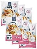 Wag(ワグ) Wag 紙製の消臭猫砂 7L×6袋 42L() (ケース販売)