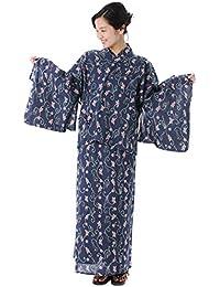 KYOETSU(キョウエツ) 浴衣 日本製 高島クレープ 3way 浴衣 単品 レディース