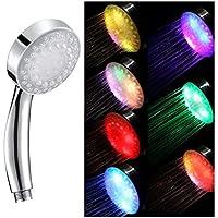 Yardwe LEDの色の変更のシャワー・ヘッド高圧手持ち型の多彩なLEDのシャワー・ヘッド必要性電池無し
