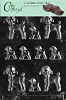 Cybrtrayd Life of the Party E050 Assorted Lambs Easter Chocolate Candy Mould in Sealed Protective Poly Bag Imprinted with Copyrighted Cybrtrayd Moulding Instructions, Small/Large