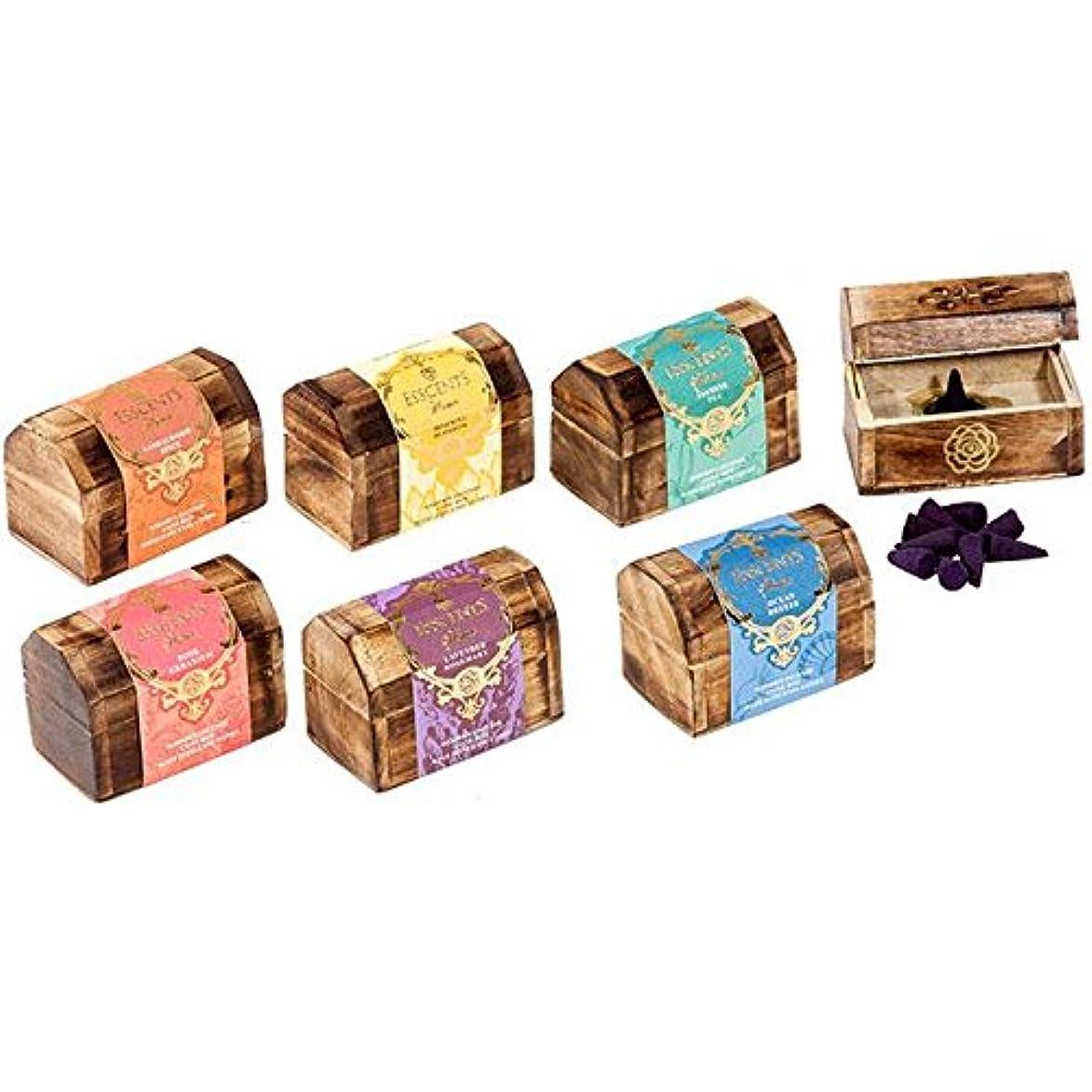 仕方しかし習慣Esscents Incense Cone Wooden Gift Set