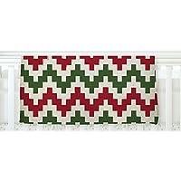 KESS InHouse KESS Original Christmas Gram Chevron Fleece Baby Blanket 40 x 30 [並行輸入品]