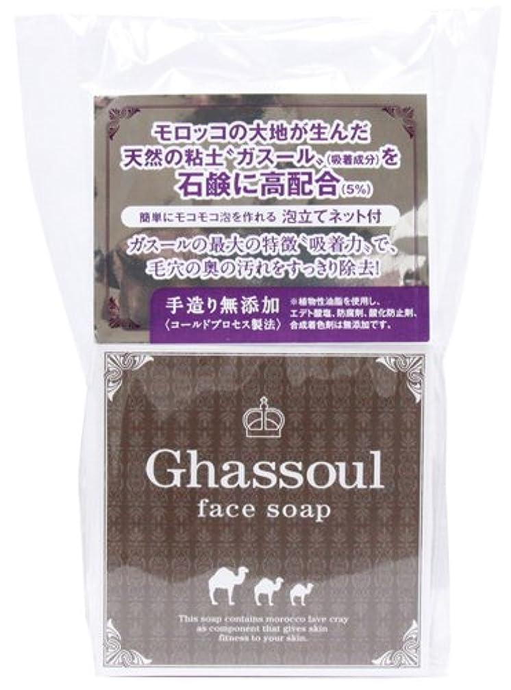 屋内で賞賛リットルGhassoul face soap ガスールフェイスソープ 100g
