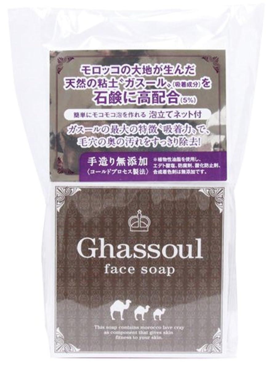 不毛ラボ食用進製作所 Ghassoul face soap ガスールフェイスソープ 洗顔 100g