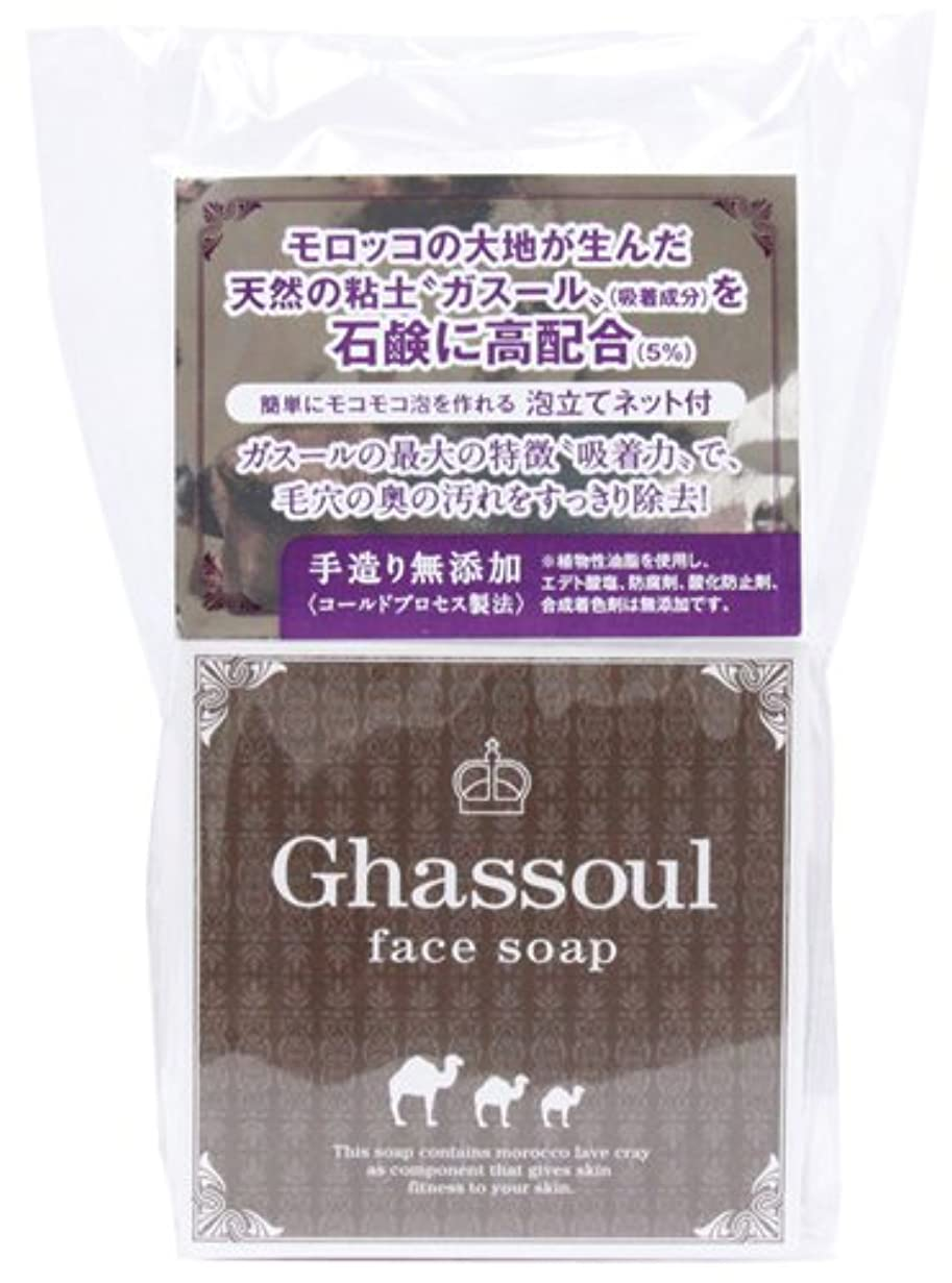 強打ポンプ討論進製作所 Ghassoul face soap ガスールフェイスソープ 洗顔 100g