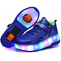 Kids Roller Skates Shoes Boys LED Roller Shoes for Girl Roller Sneakers with Wheels Shoes Sneakers