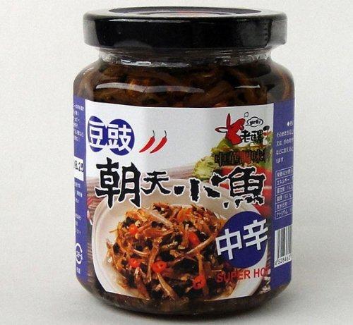 老騾子朝天小魚豆鼓入り辛味調味料 具入り食べるラー油 中辛 240g