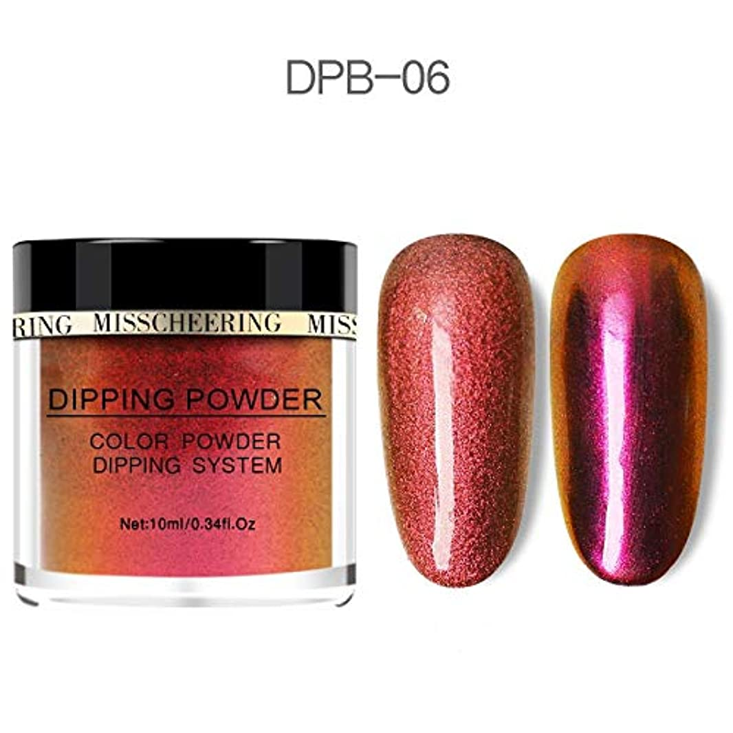 Chameleon Wetting Nail Powder Dipping Glitter Decoration Holographic Color Aurora Mirror Effect Neon Glitter Natural...