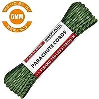 Brotree パラコード 5mm 750ポンド(耐荷重340kg) 11芯 テントロープ ミルスペック 50フィート(15M) ガイロープ