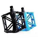 【Ludus Felix】自転車ペダル アルミペダル サイクリングバイクペダル ロードバイク クロスバイク (青)