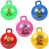 SUGE 子供の弾性ボール インフレータブルボールおもちゃ 子供のスポーツの膨脹可能な球ポリ塩化ビニールのおもちゃの滑らかなハンドル ビーチボール 漫画ハンドルボール