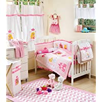 Little Princessベビーベッド寝具セット 4PC+1xHAMPER ピンク DAME-7297219049095-4PC+1xHAMPER