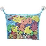 Angelcare おもちゃ収納袋 お風呂ハンモック 抗菌加工 収納ネット 水きりがよくてたっぷり収納 乳幼児向け水色)