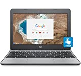 """HP Chromebook 11.6"""" HD Touch Screen with IPS, Celeron N3060 @ 1.6GHz, 4GB RAM, 16GB eMMC, Gray (Certified Refurbished)"""