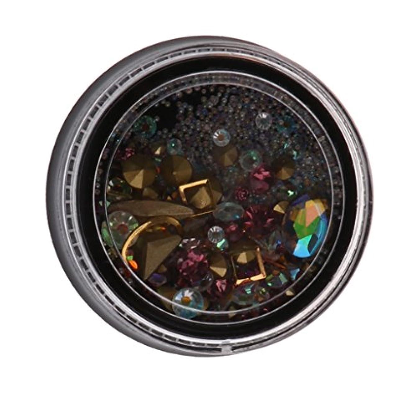 助言する氏パテToygogo 1パックのネイルアートデコレーションマニキュアセット、ネイルラインストーンジェムダイヤモンドグリッターフラットバックステッカーヒントキット - L