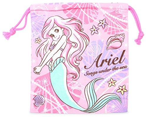ディズニープリンセス 巾着袋 両面プリント 20 × 18cm アリエル