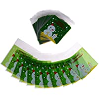 Ligong 100ピース自己粘着セロファンギフトバッグクリスマスOpp Treat Bags for Candy Cookie Biscuits、10 by 11 cm LIGONG-XMAS-DECOR-08