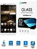 PopSky Huawei Ascend Mate 7 液晶保護フィルム 0.26mm 強化ガラス フィルム ,採用 強化ガラス 2.5D ラウンドカッティング 硬度9H ラウンドエッジ加工,Huawei Mate 7 耐指紋、撥油性 高透過率液晶保護 (Huawei Ascend Mate 7)