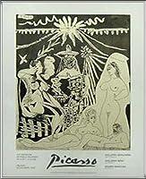 ポスター パブロ ピカソ Marconi 額装品 アルミ製ハイグレードフレーム(シルバー)