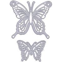 Chinatera 2 Butterfly Frame Metal Cutting Dies Scrapbooking Die Craft Decorative