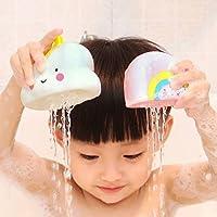 赤ちゃんバスシャワーおもちゃ、赤ちゃんと幼児のためのシリコン天気バテエ時間のおもちゃ - 4(雨、雲、虹、雷雲)のセット