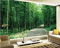 Lcsyp カスタム3D壁紙3D大気竹林風景アート壁画寝室廊下子供ルーム写真3d壁紙-350X245CM