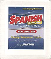 Spanish On-the-spot for Educators 400 Card Set Handy Reference Cards