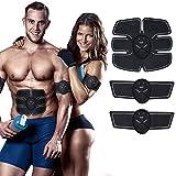 DUSTARS 腹筋ベルト EMS 腹筋トレーニング お腹 腕セット ダイエットフィットネスマシン 10段階 6つモード バッテリー式