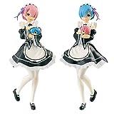 一番くじ Re:ゼロから始める異世界生活 Happy Birthday REM&RAM! A賞 レムとラムのフィギュア