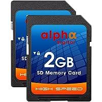 Canon EOS DSLR 60d 70d 80d 77d 7d m5m6デジタルカメラメモリカード安全なデジタル(SD) 2x 2GBメモリカード[ 2パック]