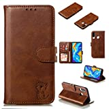 Semi In Ear Design Stereo Earphone Leather Protective Case For Huawei P30 Lite(Black),Simple, comfortable, easy to carry. (Color : Brown)