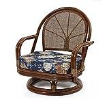 サンフラワーラタン 籐回転椅子 ミドルタイプ C711HRA1 背クッション無し 座椅子 アジアン ラタン