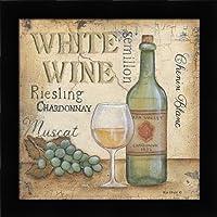 ホワイトワイン–Signs Spirits Vintage Fineアートプリントby Lewis、Kim–Choose yourサイズとフレームオプション 18x18 pef-48_KL1665-18x18-studio