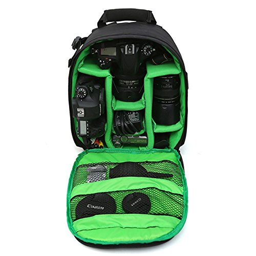 カメラバッグ 一眼レフ用ケース 防水多機能 三脚取付可 軽量通気 大容量