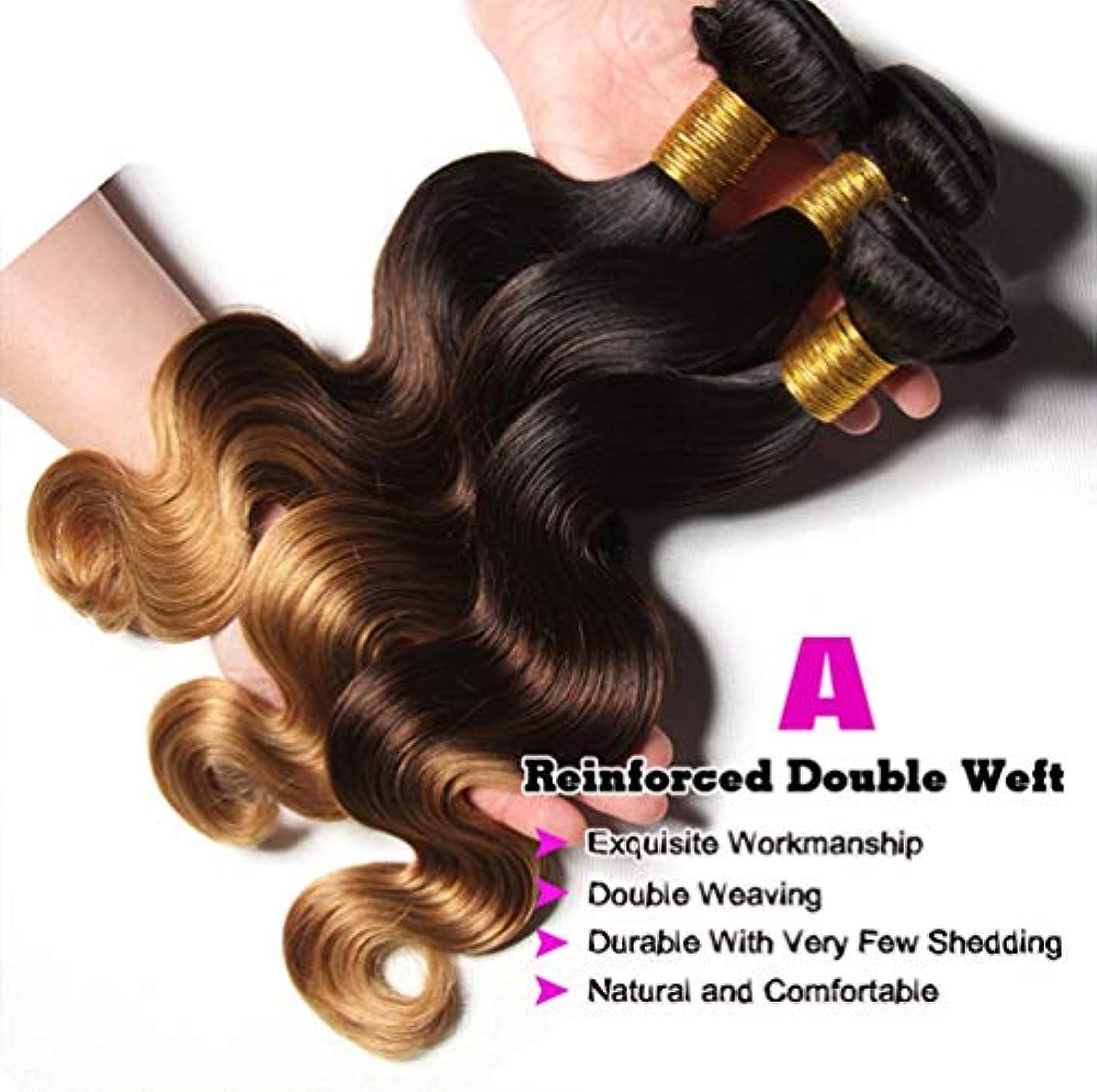 10A巻き毛バンドルブラジルの変態巻き毛バンドルオンブル巻き毛バンドル人毛束深い巻き毛(3束)